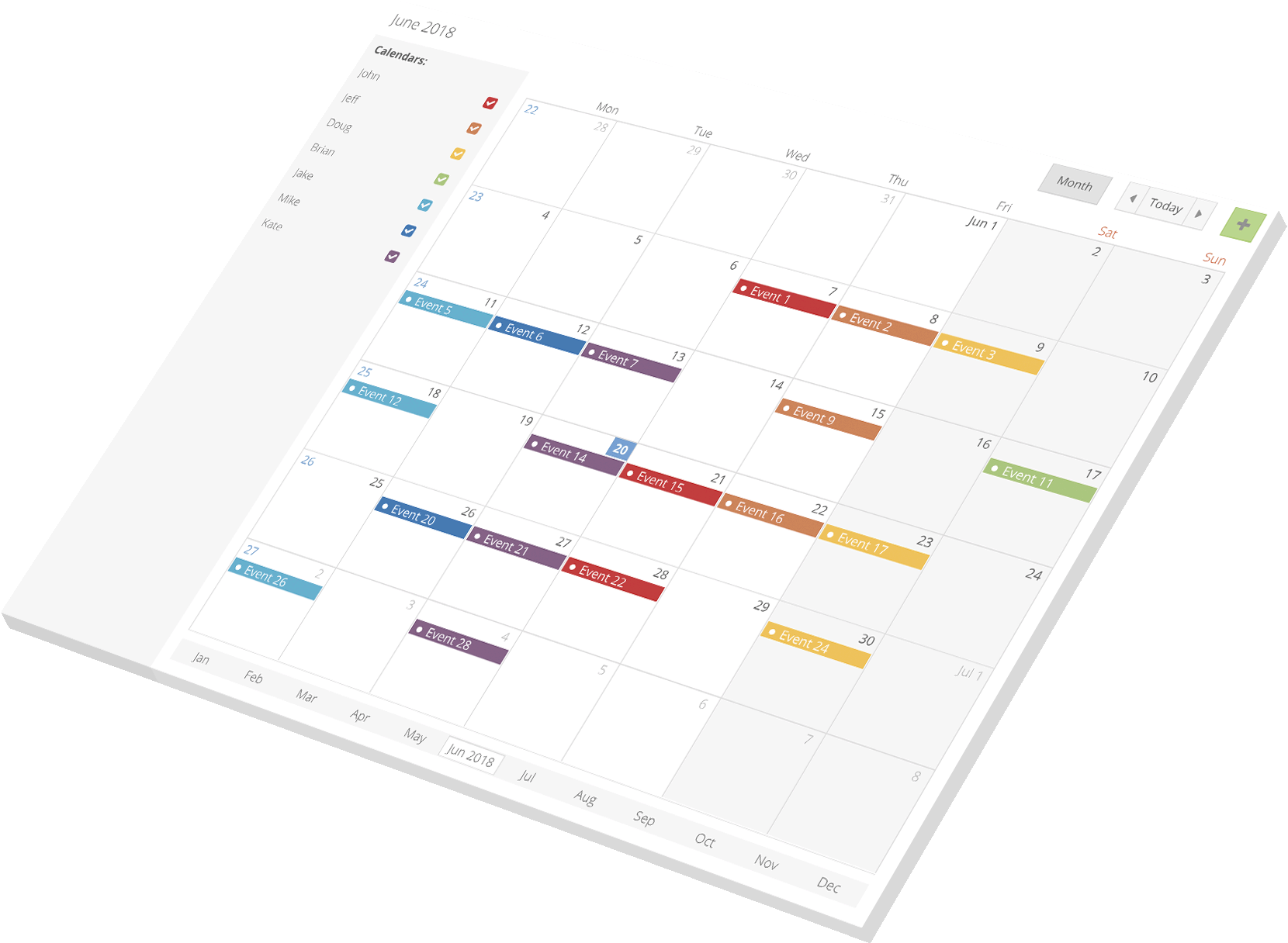 Calendar for Ext JS – Bryntum