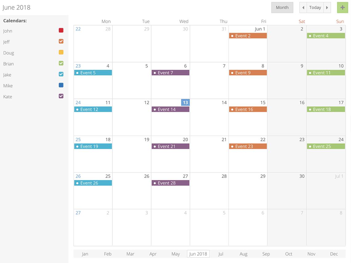 React Big Calendar.Bryntum Premium Javascript Gantt Charts And Scheduling Components
