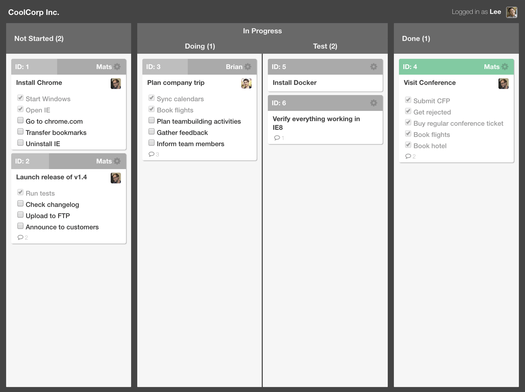 TaskBoard for Ext JS – Bryntum