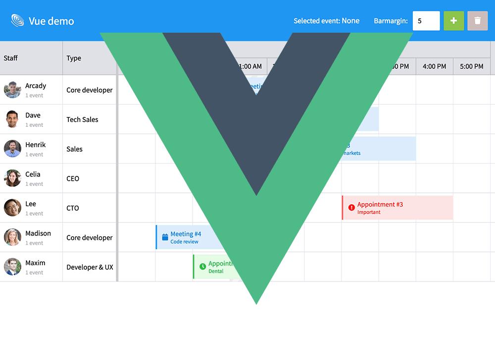 Integrating Bryntum Scheduler with Vue js – Bryntum