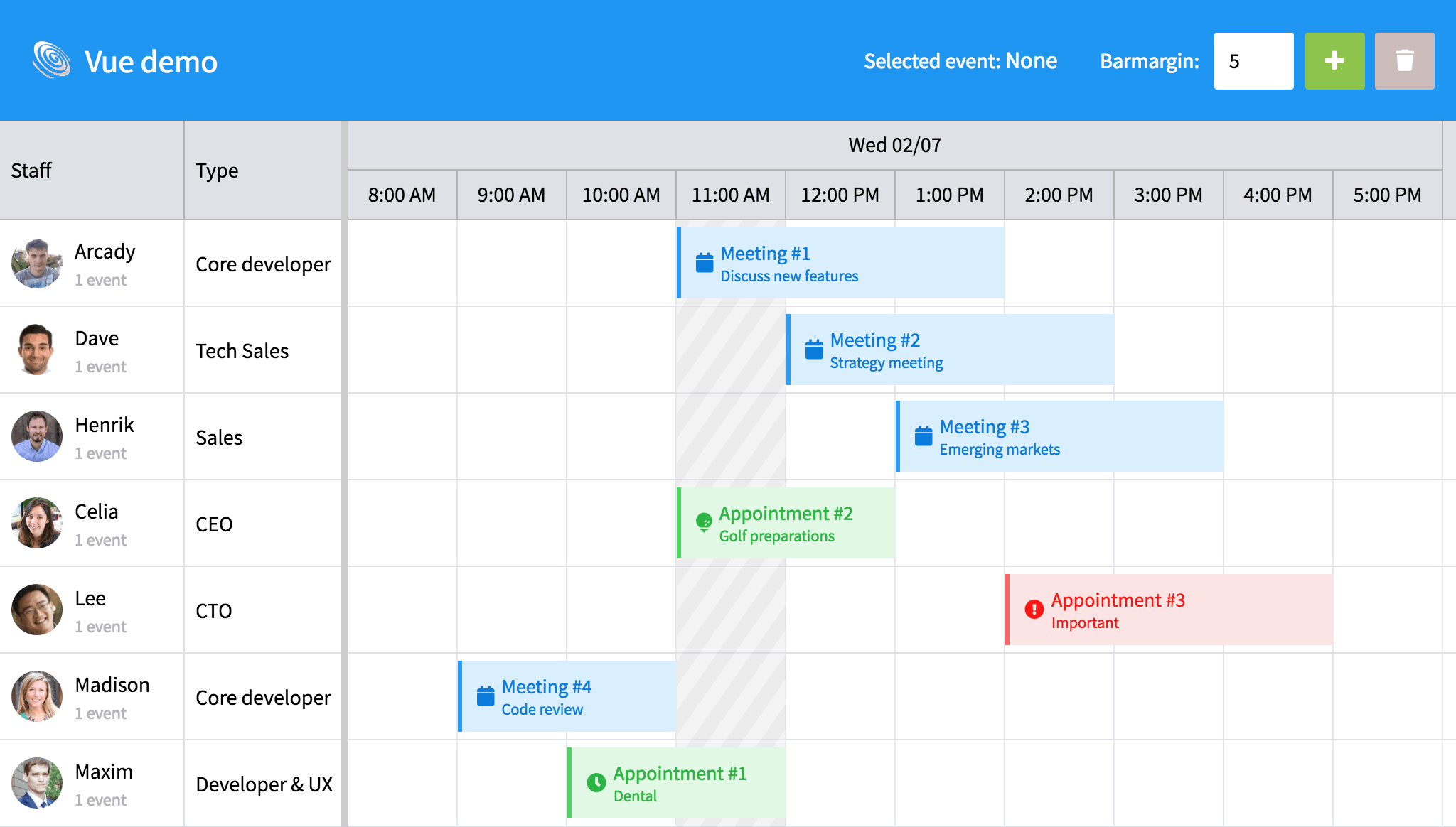 Integrating Bryntum Scheduler with Vue js – Bryntum