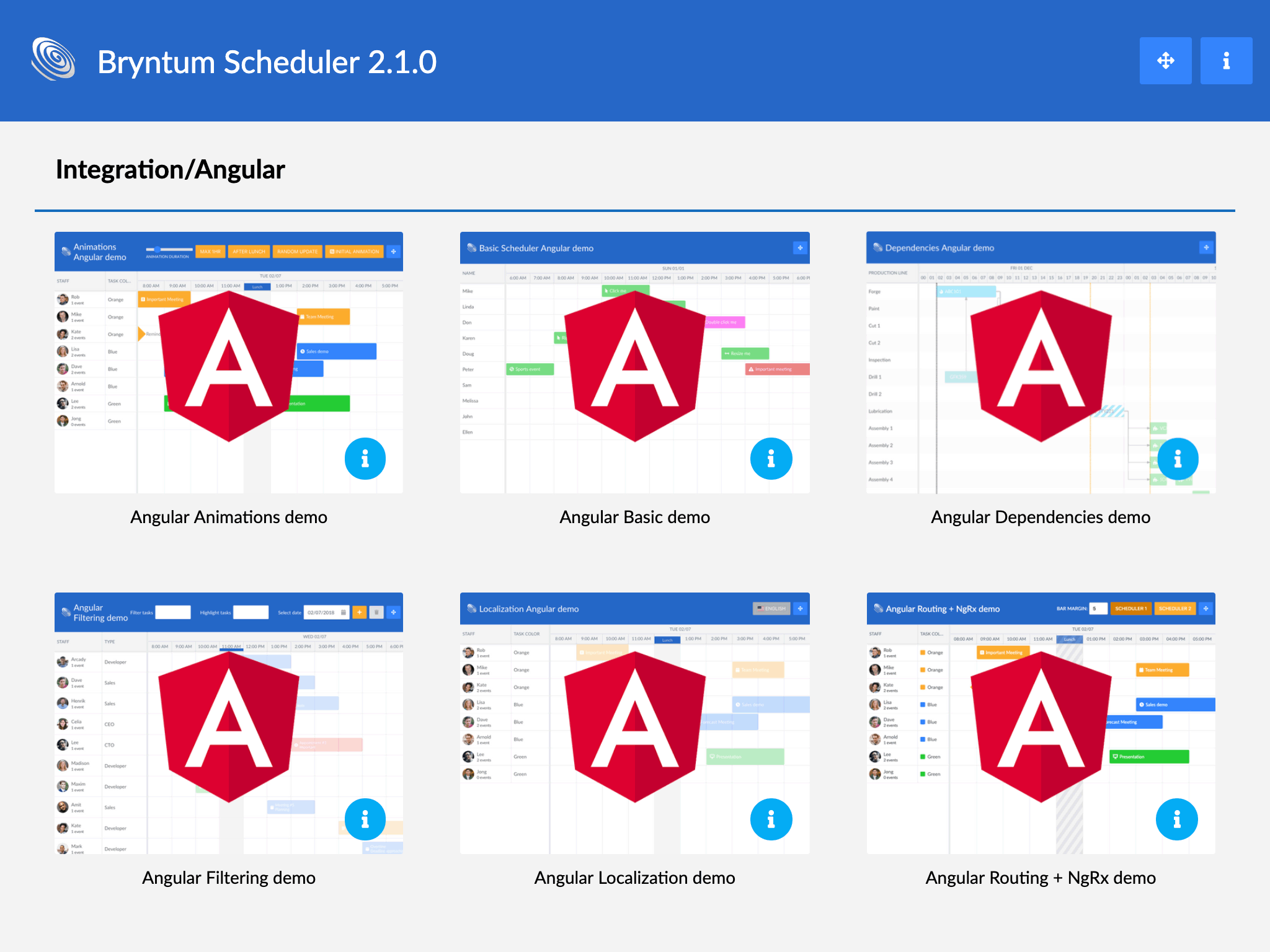 New Angular demos