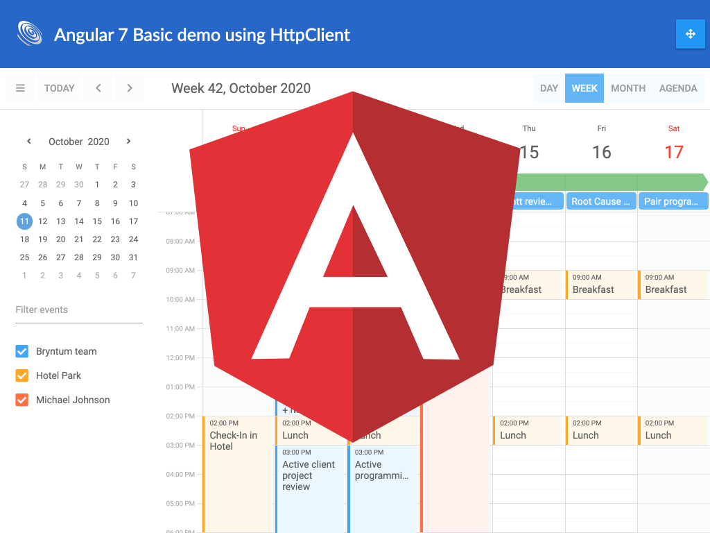 Angular 7 + HttpClient Integration Demo